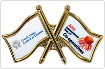 Two-Logo Custom Pin (Credit Unions)